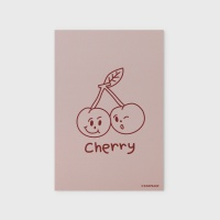 [어프어프] 엽서 Twin cherries-Indy pink