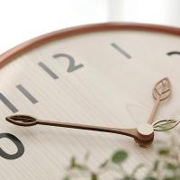 [N365] NEW 300파이 우드 나뭇잎 저소음벽시계