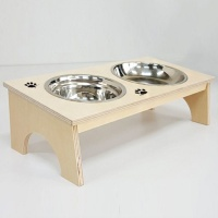 자작나무 애견식탁(아치) 원목 2구 강아지 식탁