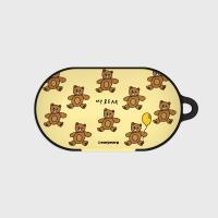 Teddy bear-creamyellow(buds hard case)