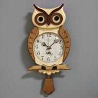 (kjco061)저소음 프린스부엉이벽시계 033 (브라운)