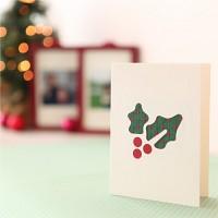 핸드메이드 크리스마스 카드 (패브릭)-홀리 그레이스