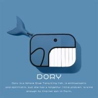 에어팟 1/2 케이스 물고기고래 실리콘 분리형/321블루