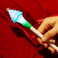 점등 크리스마스 볼펜 (트리)