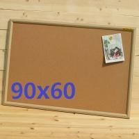 천연콜크를 사용한-국산 미송프레임 콜크 게시판 90x60cm