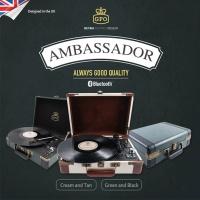 GPO LP 턴테이블 Ambassador 블루투스 USB 녹음가능 스피커내장
