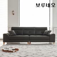 보루네오하우스 모닝듀 이태리천연가죽 구스 4인소파 FC010