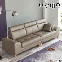 보루네오하우스 모닝듀 이태리천연가죽 구스 4인소파 FC020