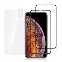 아이폰 XS MAX 풀커버 강화유리 액정보호필름 2매+후