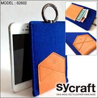 [에스와이크래프트]  독일 양모 핸드메이드 / 아이폰4,5 카드지갑케이스 and 파우치 _62602