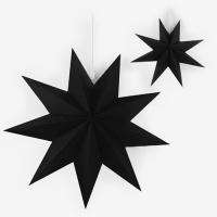 [인디고샵] 블랙 페이퍼 스타 모빌