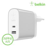 벨킨 F7U061kr USB C타입 + A타입 2포트 고속 충전기