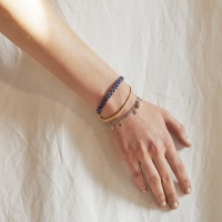 j_b1 - blue _ yollow leather bracelets