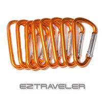 이지트래블러 D자비너 8개세트 카라비너