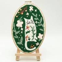 펀치니들 숲속고양이 DIY 키트