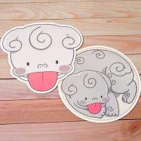 메롱해치 마우스 패드 디자인 2종 중 선택
