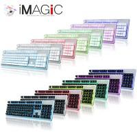 아이매직 LED 게이밍 키보드 GKEYBOARD2 프리미엄 IGK2-ST (7칼라 LED / UV코팅 / 밝기조절 / 30키 동시입력 / 방수 / 플런저)