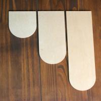 [우드스티커] 우드어닝 10cm (반제품) - 입체우드 월데코 포인트 우드스카시 벽장식