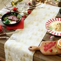 크리스마스 테이블 러너 (자작나무) 베이지