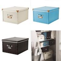 FJALLA box with lid/ 수납함 세트 (40*56*28)