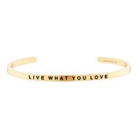 [만트라뱅글] LIVE WHAT YOU LOVE - 골드