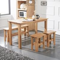 [노하우] 케이 원목 4인 식탁세트 (의자2+벤치1)