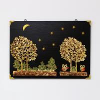 (kdyg011)행복나무 부엉이 벽장식(50x70)