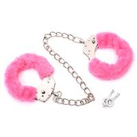러블리 핑크 발목 수갑 (커플용,클럽파티,경호,호신용)