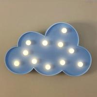 [무료배송]이비자 구름 블루 램프 마퀴라이트조명