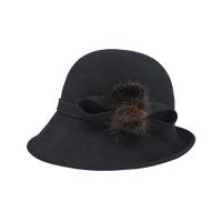[에반스]Miky felt Hat 밍키 펠트모자_black
