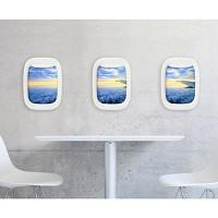 에어프레임 비행기 창문액자 세트