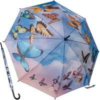 스월링 버터플라이 - 원목자동장우산