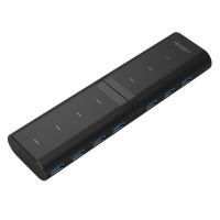 위즈플랫 USB3.0 180도 회전 7포트 허브 WIZ-H72 (LED 표시 / 5Gbps 고속전송)