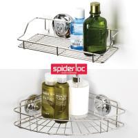 [굿센스] 스파이더락 욕실선반 2종세트 A형(코너+선반소)