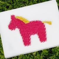 말 핑크 스트링아트(스펀지)