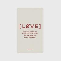 [어프어프] 보조배터리 Love promise-beige