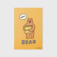 [어프어프] 엽서 Bear box-mustard