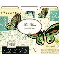 Cavallini 파일폴더 3개세트-Butterfly (CFF - 4)