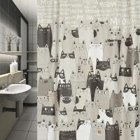 (샤워커튼)캣캣캣