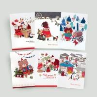 FS1029 Set(6종) 크리스마스카드,트리,산타,성탄절