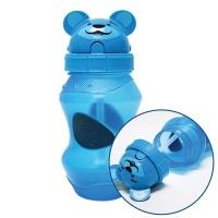 동물원 빨대 물병 350ml 블루 유아동용 휴대용 물통