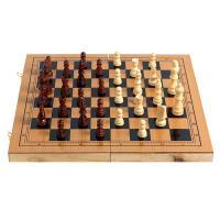 (와인앤쿡)실속형원목 체스 체커 백개먼 판(특대)