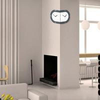 [하이모리] 타임데코 라운드 코너벽시계 BW [핸드메이드/월클락/양면시계/인테리어소품]