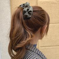 실크 스크런치 곱창 머리끈