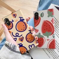 아이폰 귀여운 과일 낙서 패턴 실리콘 휴대폰 케이스