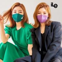 iLe 환절기 캠핑 야외 재사용 항균99.9% 쿼드마스크