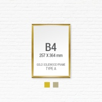 [골드원목프레임] 골드 액자 Type A - B4