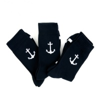 [3PACK]1507 Anchor ATHLETIC SOCK - NAVY