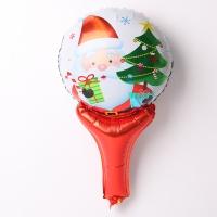 크리스마스 손잡이 은박풍선 (큐티산타)