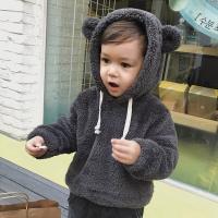 유아 양털 기모 스웨터 후드티셔츠